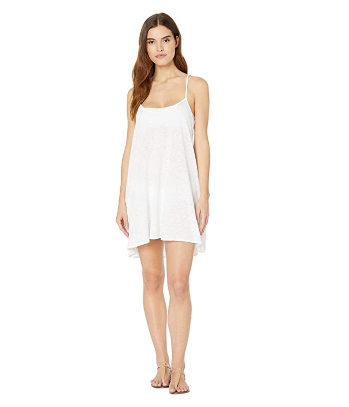 Vitamin A Swimwear Paloma Knit Mini Dress Cover-Up (Ecocotton White) Women