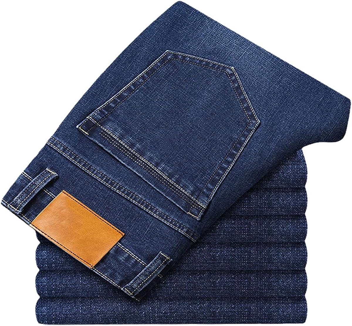 Cotton Men's Jeans Classic Clothes Overalls Straight-Leg Pants