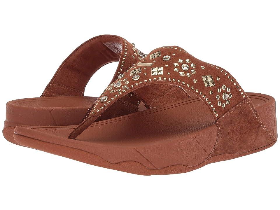 FitFlop Lulu Aztek Stud Toe-Thong Sandals Suede (Caramel) Women
