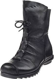 Women's Cap Toe Boots Handmade Ankle Oxford with Side Zipper