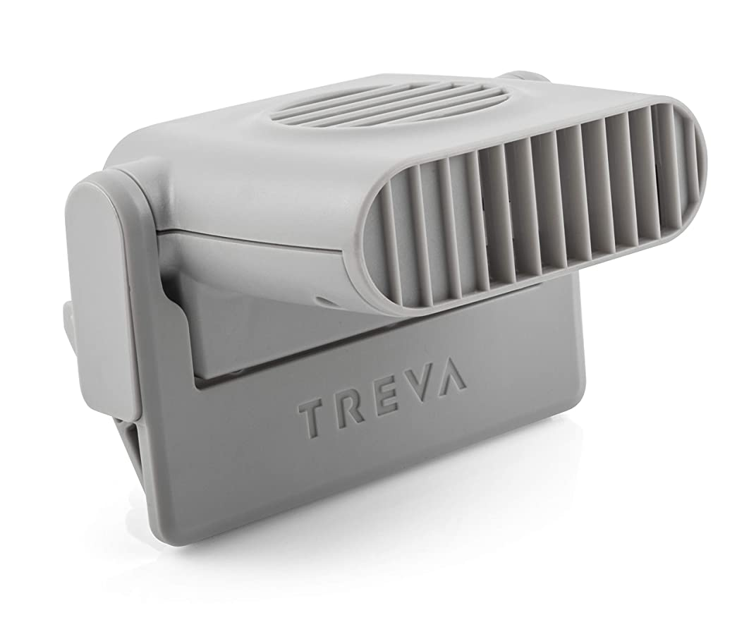 Treva Mini Clip On Fan - Tiny Personal Fan Clips onto Cell Phones, Tablets, Laptop Computers – Cordless, Battery Operated - Portable Cooling for Travel, Bed, Camping, Beach, Outdoors
