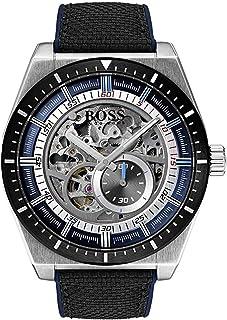 Hugo Boss Hommes Squelette Automatique Montres bracelet avec bracelet en Cuir - 1513643