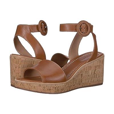 Bernardo Kelly Wedge Sandal (Luggage Antique Calf) Women