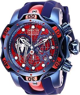 Invicta メンズ 「マーベル」 クォーツ ステンレススチールとシリコン腕時計 色:ブルー (モデル:27044)