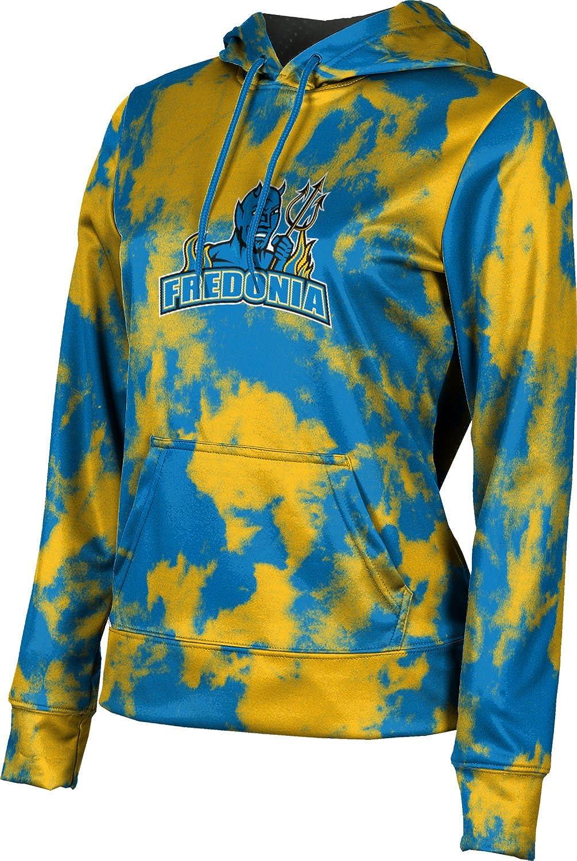 State University of New York at Fredonia College Girls' Pullover Hoodie, School Spirit Sweatshirt (Grunge)