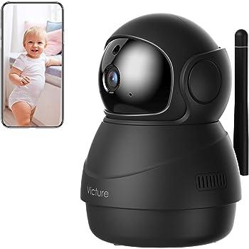 Victure Caméra de Surveillance,1080P Caméra WiFi sans Fil, Version Mise à Jour, Suivi de Mouvement, Détection Sonore, Audio Bidirectionnel, Panoramique, Inclinaison, Zoom, APP Victure Home