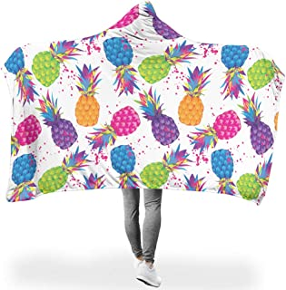 WANerryzy Pineapple Fruit Summer Plush Reversible Warm Washable Throw Blanket for Sofa Office Bed and Travelling White 50x60 inch