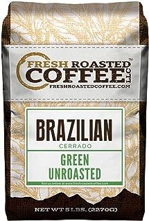 Green Unroasted Coffee Beans, 5 LB. Bag, Fresh Roasted Coffee LLC. (Brazilian Cerrado)