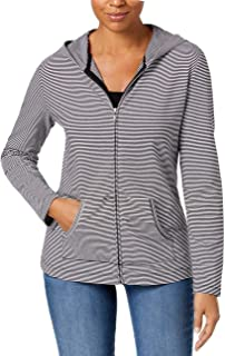 Womens Hooded Active Jacket, Deep Black, Small