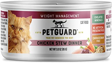 product image for PetGuard Case of 24 Weight Management Chicken Stew Dinner Canned Cat Food, 3-oz.