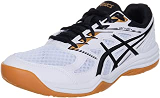 Asics Upcourt 4, Indoor Court Shoe Hombre, White Black, 42 EU