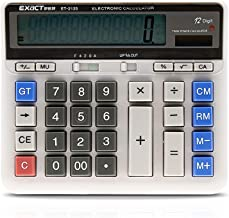$24 » Fesjoy Calculator Large Computer Electronic Calculator Counter Solar & Battery Power 12 Digit Display Multi-Functional Big...