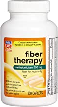 Rite Aid Fiber Therapy Soluble Fiber Supplement - 200 Caplets   500mg Methylcellulose  Laxatives for Constipation   Constipation Relief   Fiber Pills for Adults   Fiber Supplements for Women and Men