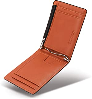 SHINPACK マネークリップ 小銭入れ付き メンズ 財布 二つ折り 7枚カード入れ 札ばさみ レザー