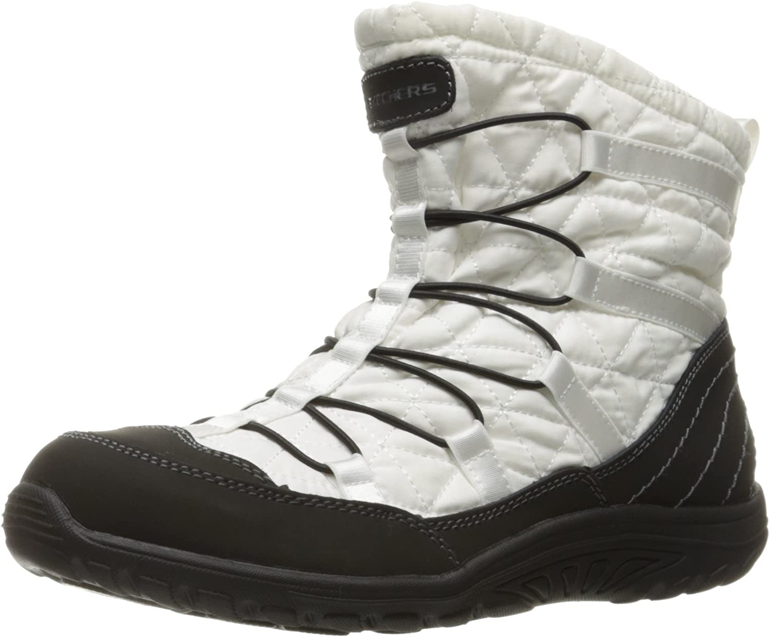 Skechers Womens Reggae Fest Steady Quilted Bungee Bootie Ankle Bootie