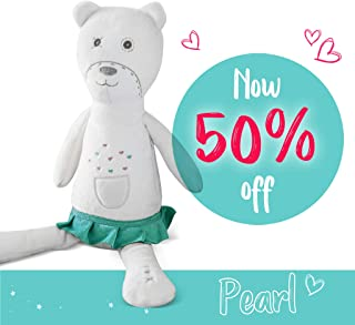 Baby Soother Teddy Bear by myHummy - Plush Sound Machine with 5 White Noise Sound Options - 60 Minute or 12 Hour Continuous Options