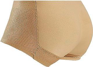 G&F Men's Butt Lifter Padded Panty Body Shaper Boxer Underwear Hip Enhancer Shapewear (Color : Skin, Size : Large)