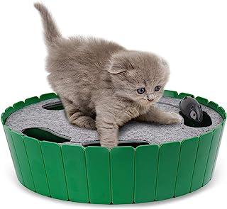 Pawaboo Juguete/Escondite Electrónico para Gato - Pet Teasing Toy Hide & Seek Electronic Caza del Ratón Interactivo Cat Toy, Verde