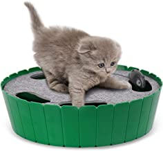 Pawaboo Cat Toy with Running Mouse, Electric Interactive Motion Cat Toy Automatic Rotating Teaser Pop and Play Hide and Seek Hunt Toy for Pet Cat Kitten Play Fun Excercise