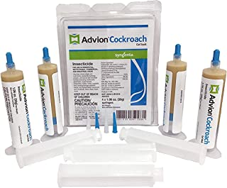 advion 4 Tubes and 4 Plungers Cockroach German Roach Pest...
