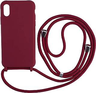 Ququcheng Coque Compatible avec iPhone XS Max,Collier pour Étui Colliers de cellulaire Corde Silicone avec Cordon Case TPU...