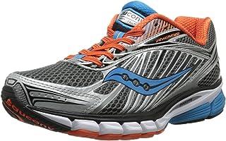 حذاء ركض رجالي Ride 6 من Saucony ، رمادي/برتقالي/أزرق، 9. 5 M US