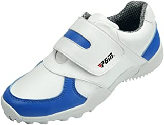 PGM Waterproof Golf Shoes for Kids Children Boys Girls Spikeless with Hook and Loop Strap