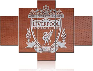 Anfield Stadium Wall Picture LFC Soccer Wall Art Canvas Prints - Liverpool FC Football Club You'll Never Walk Alone - Wall Decor Picture Frame Poster Living Room Decoration Ready to Hang - 60''Wx40''H