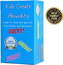 Kids Create Absurdity: Warning: May Cause Belly Laughter! A Family Card Game for Kids with Funny Questions and Hilarious Answers Fun for Kids, Adults Teens and Tweens Great Gift for The Holidays.