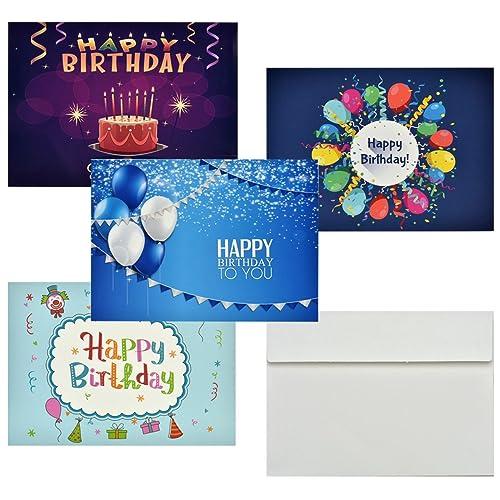 Geburtstagskarten Cozyswan 36 Stuck Half Fold Grusskarten Mit Weissen Umschlagen Fur Jeden Anlass