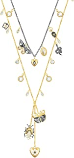 Crystal Magnetic Bugs Long Layered Necklace