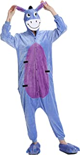 Kimily-UK Unisex Unicorn Pajamas 3D Novelty Cosplay Animal Costumes Onesie Flannel Warm Sleepwear Cute One Piece Jumpsuit ...