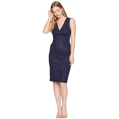 BCBGMAXAZRIA Alda Faux-Suede Dress (Dark Navy) Women