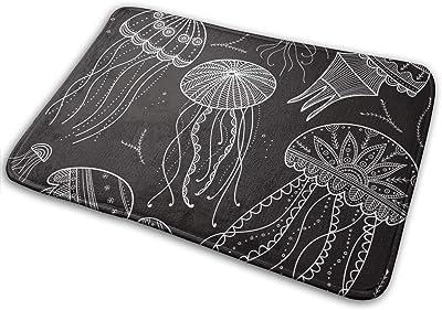 "Set with Jellyfishes in Ethnic Boho StyleDoormat Entrance Mat Floor Mat Rug Indoor/Bathroom Mats Rubber Non Slip (23.6""x15.7"",L x W)…"