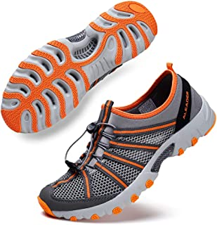Mens Water Hiking Shoe, Breathable, Wet-Traction Grip
