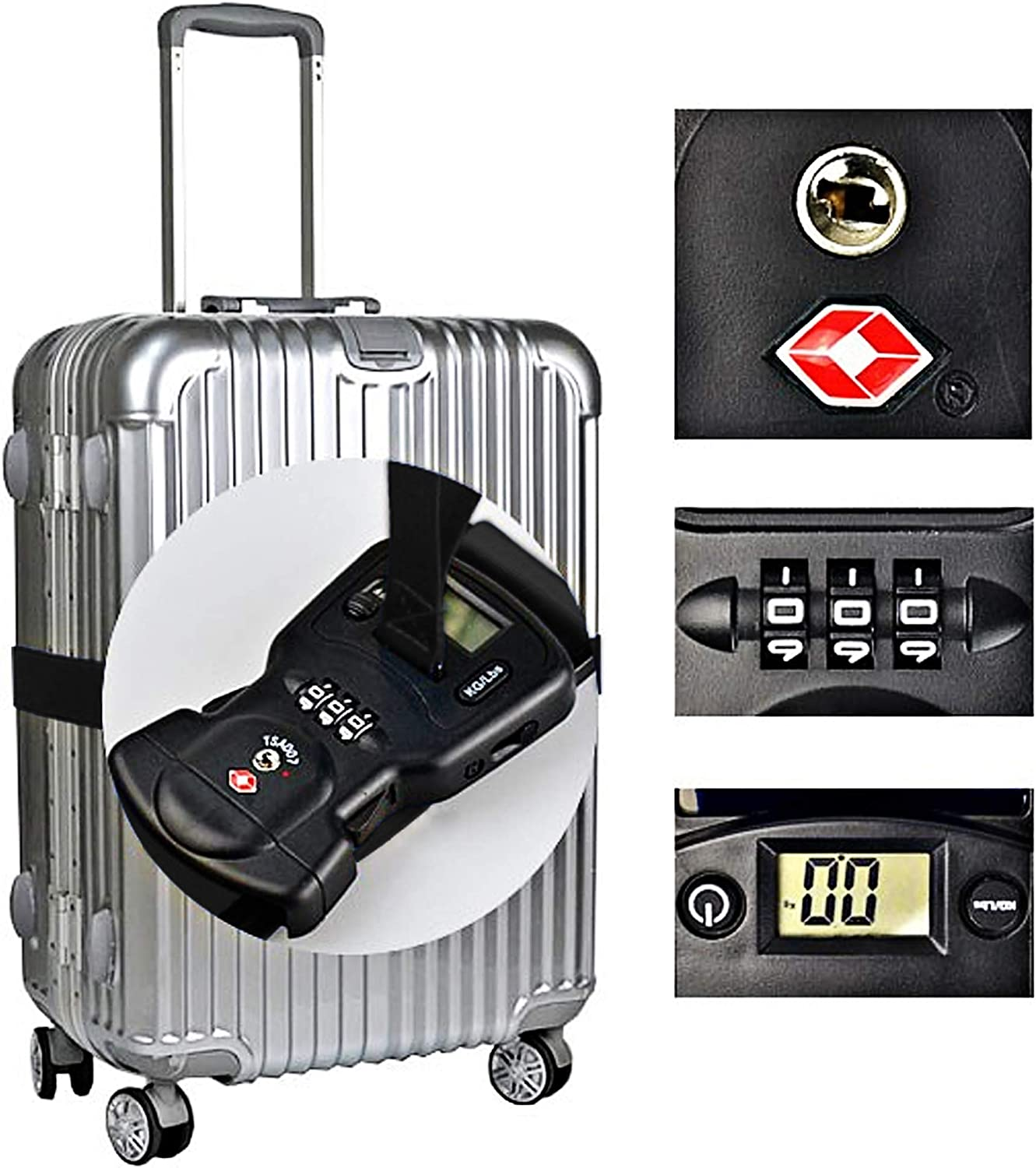 3-in-1 Travel Luggage Bag Strap with TSA Lock and Digital Scale. Pride Rainbow