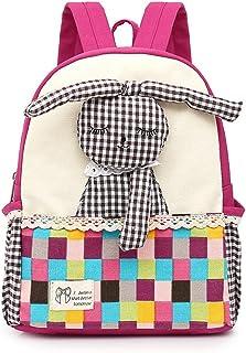Mochila infantil de lona con correas ajustables para guardería, guardería, escuela primaria, 2 a 7 años