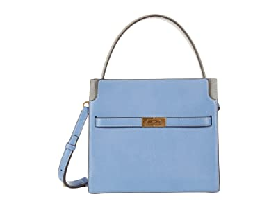 Tory Burch Lee Radziwill Small Double Bag (Bluewood) Handbags