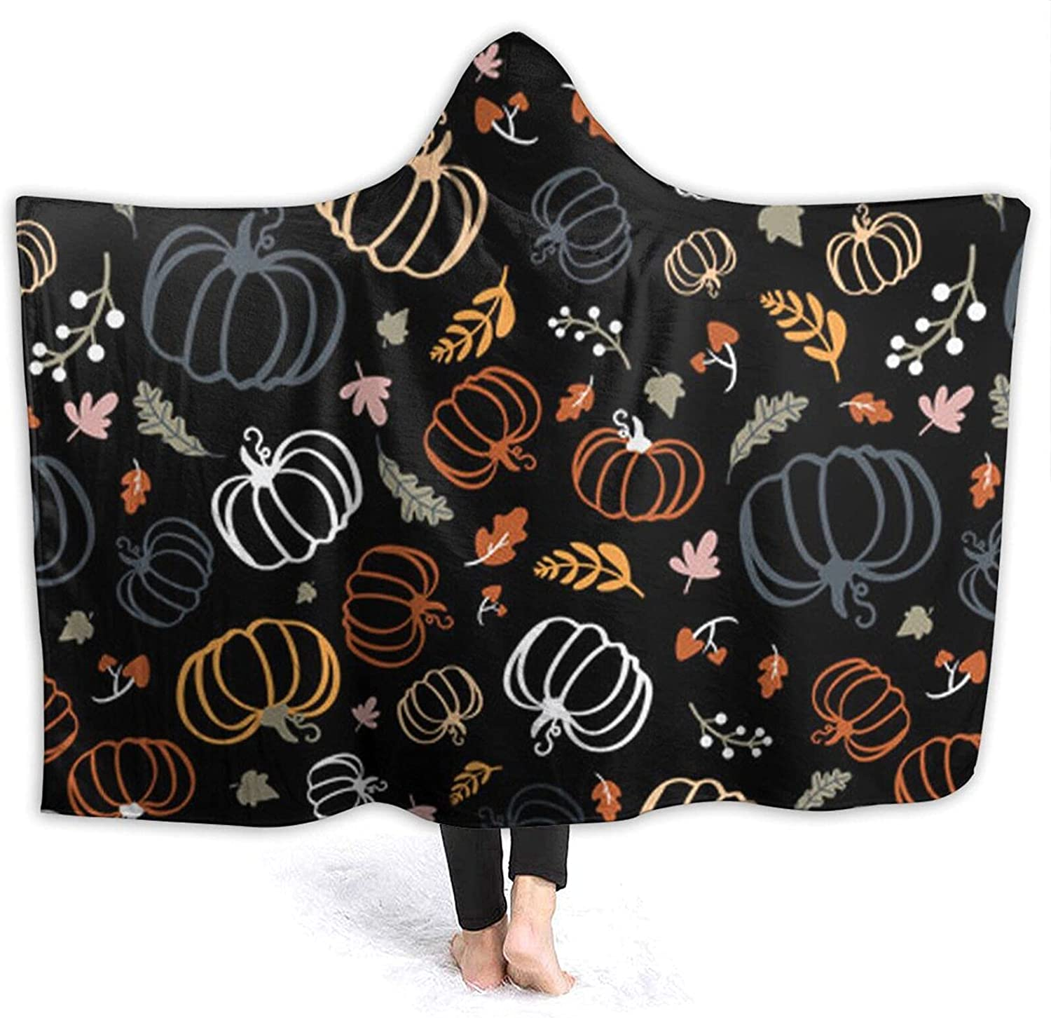Colorful Pumpkins Sales of SALE items from new works Hoodie Blanket Wearable-Hooded Tahalo Flannel Super special price