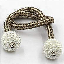 Gordijnriemen 1pc magnetive gordijn tiebacks riemen pastorale stijl eenvoudige aardbei parel kant gordijn cilp gesp touw k...