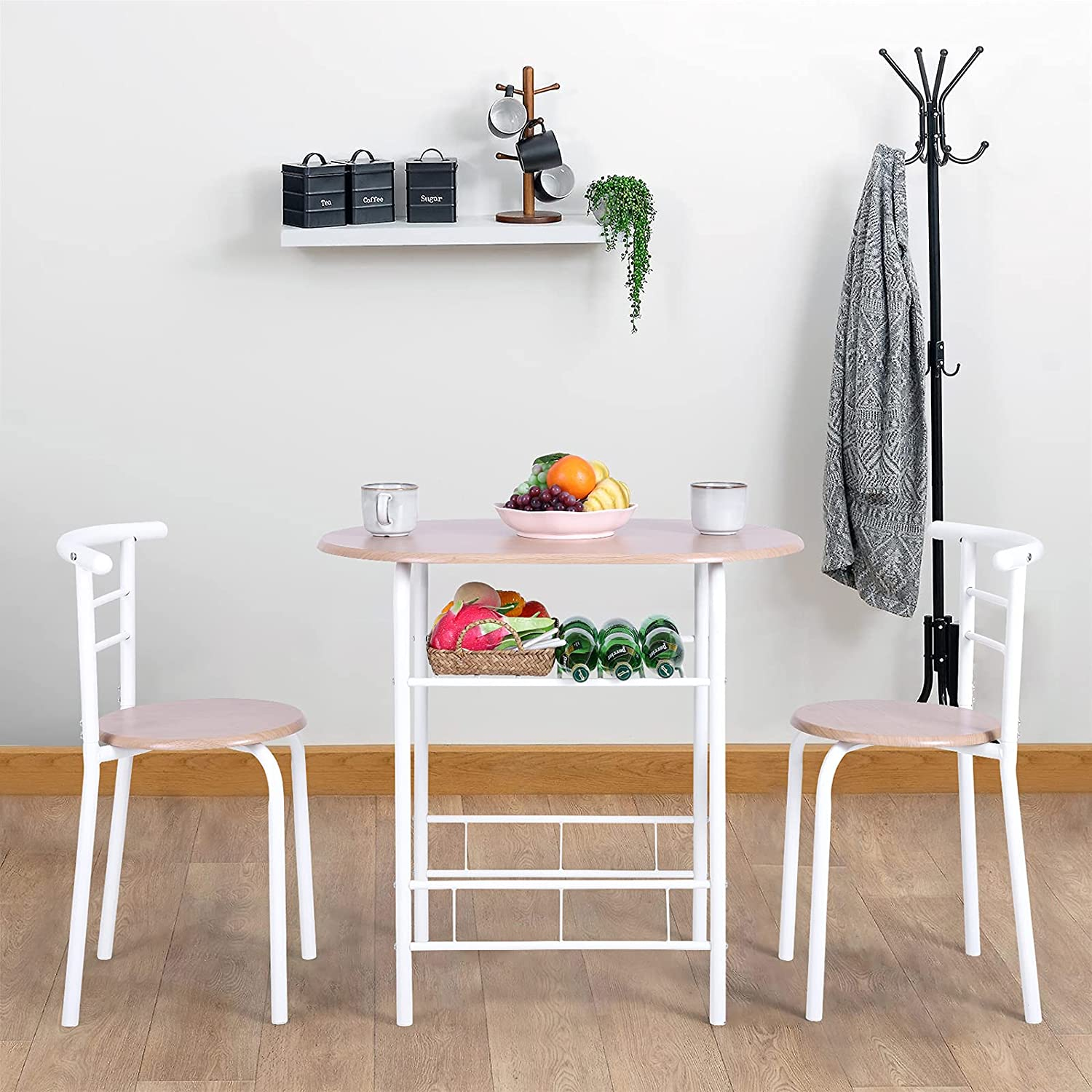 MAISON ARTS 9 Piece Round Dining Room Table Set for 9 Space Saving Small  Dining Table with 9 Chairs for Kitchen, Dining Room, Breakfast,Compact  Space ...