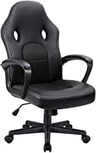 Furmax Office Desk Leather Gaming, High Back Ergonomic Adjustable Racing Task Swivel Executive Computer Chair Headrest and...