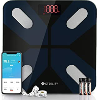 Etekcity Body Fat Scale, 5 Piece Set, Black