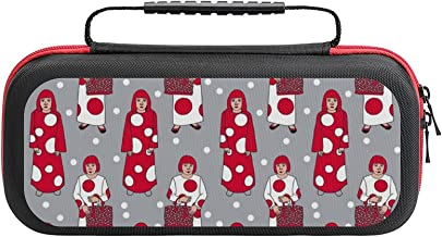 $26 » Yayoi Kusama Red And White Dots Art Grey Case Compatible with Switch Case Protective Carry Bag Hard Shell Storage Bag Port...