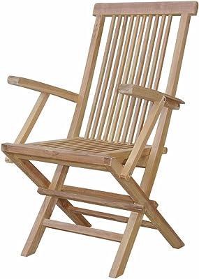 Anderson Teak Bristol Folding Armchair (Pair), Natural