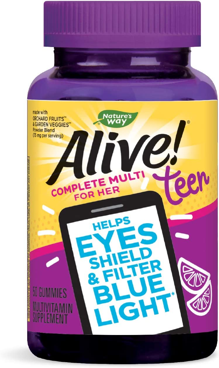 Limited time cheap sale Nature's Way Alive Teen Gummy Helps Max 71% OFF for Multivitamin Her Eyes