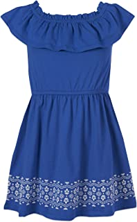 Nautica Girls' Off Shoulder Fashion Dress
