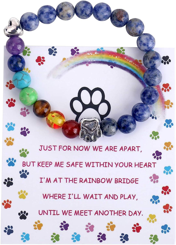 Pet Memorial Gifts Rainbow Bridge Bracelet for half 8 Beloved Dog Very popular Cat