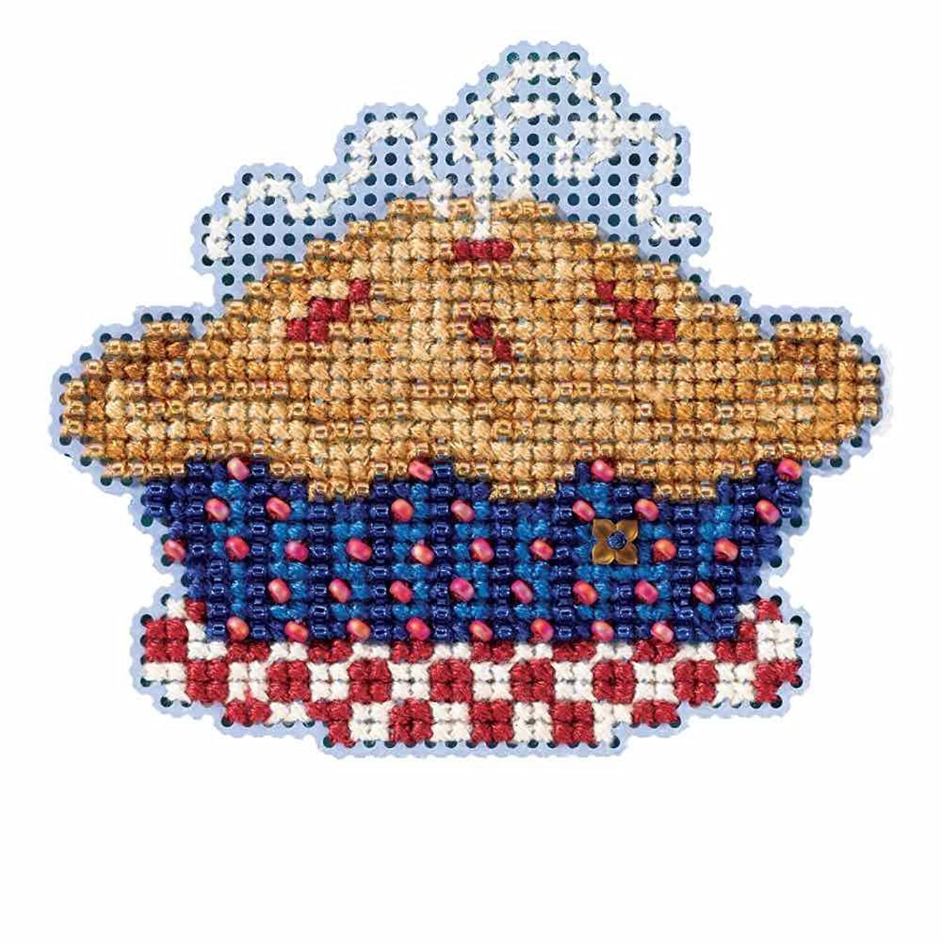 American Pie Beaded Counted Cross Stitch Ornament Kit Mill Hill 2016 Autumn Harvest MH181625