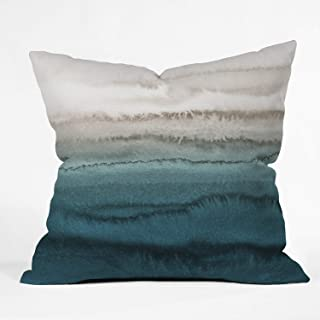 "Deny Designs Monika Strigel Within The Tides Crashing Waves Teal Indoor Throw Pillow, 20"" X 20"""